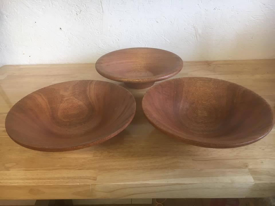 """Bowl 11"""" African Mahogany"""