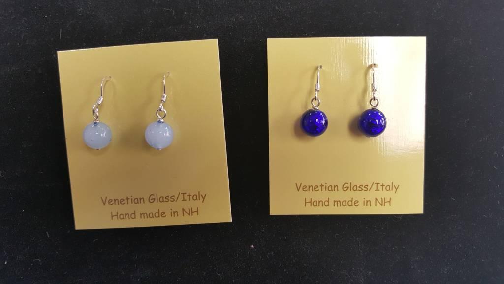 Venetian Glass Small Round Earrings