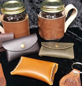Mason Jar Leather Holder