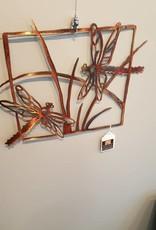 Copper Dragonfly Wall Art