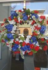 "18"" Red, White & Blue Wreath"
