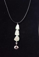 Desert Glass w/Sterling Silver Necklace