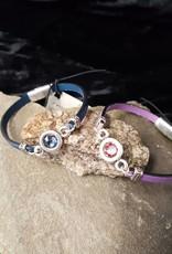 Crystal & Leather Bracelet