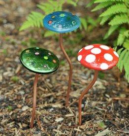 Mushroom Bobble Garden Stake