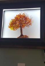 Light Up Wire Tree Framed