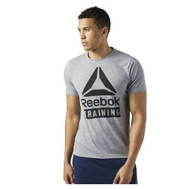 REEBOK REEBOK TRAINING SPEEDWICK TEE - GREY