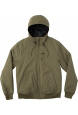 RVCA RVCA HOODED BOMBER JACKET - BURNT OLIVE