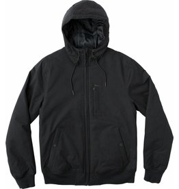 RVCA RVCA HOODED BOMBER JACKET - BLACK