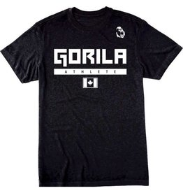 GORILA FITNESS GORILA ATHLETE MEN SHIRT - BLACK