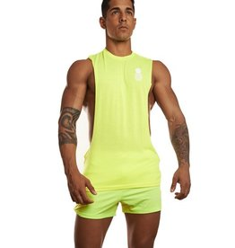 JJ MALIBU JJ MALIBU DEEP CUT MUSCLE TANK - YELLOW