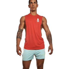 JJ MALIBU JJ MALIBU DEEP CUT MUSCLE TANK - RED