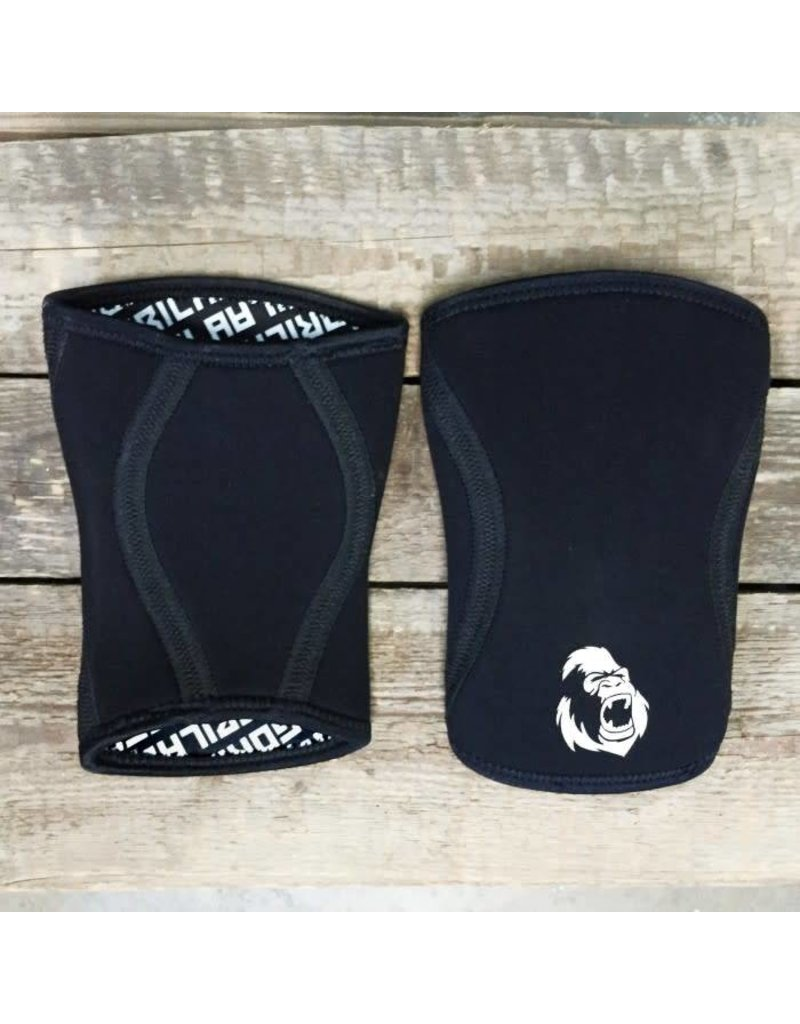 GORILA FITNESS GORILA KNEE SLEEVES 7MM BLACK