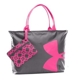 UNDER ARMOUR UNDER ARMOUR BIG LOGO TOTE GREY/PINK
