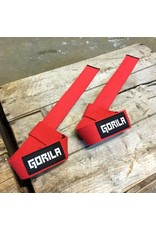 GORILA FITNESS GORILA NYLON LIFTING STRAPS RED