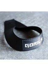 GORILA FITNESS GORILA LIFTING STRAP U SHAPED NYLON WEBBING BLACK