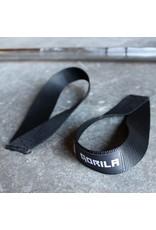 GORILA FITNESS GORILA LIFTING STRAP U SHAPED NYLON WEBBING BLACK