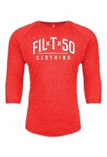 Filthy 50 FIL-T-50 RED BASEBALL TEE