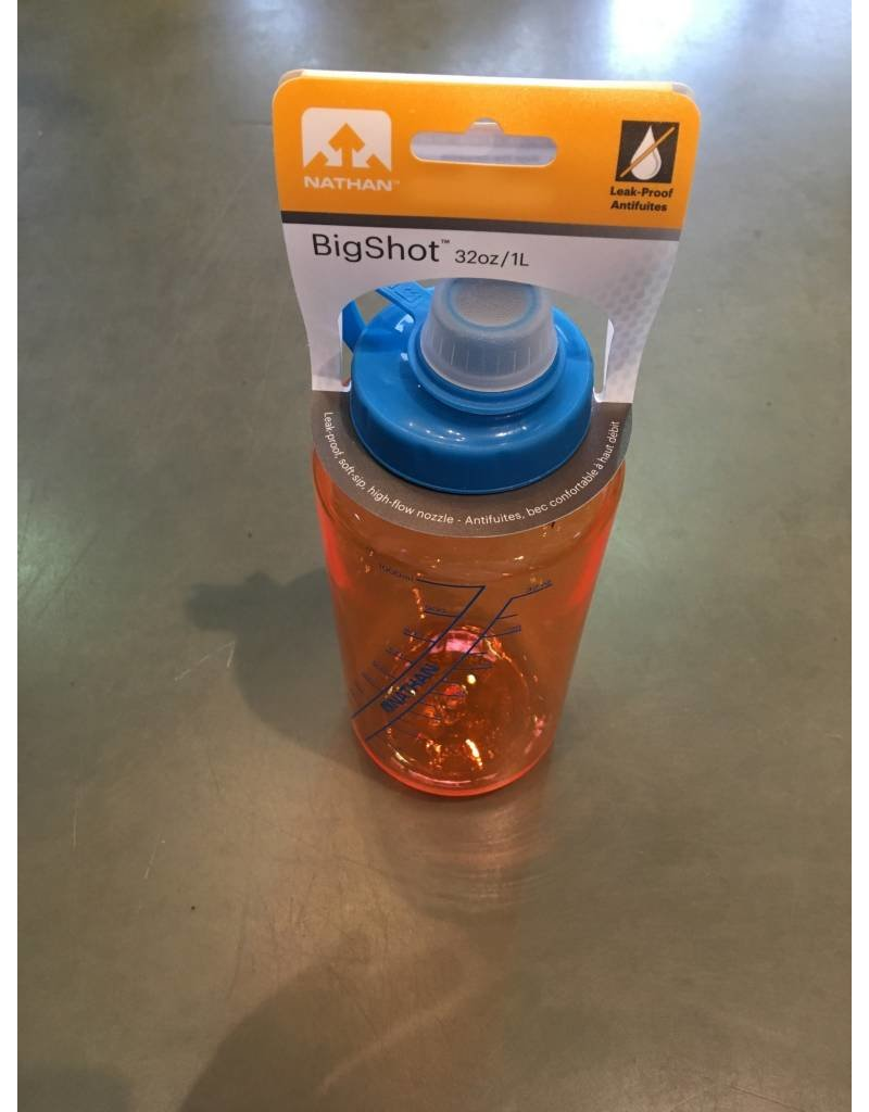 NATHAN NATHAN BIG SHORT I LITER WATER BOTTLE - ORANGE/BLUE