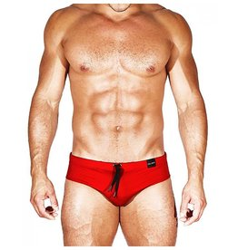 CALIBER CALIBER SWIM BRIEF ORIGINAL FIT, RED