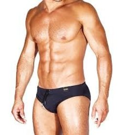 CALIBER CALIBER SWIM BRIEF HIGH CUT, NAVY