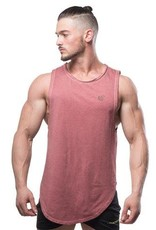 JED NORTH JED NORTH LUXE FLEX MUSCLE TEE VINTAGE, MAROON