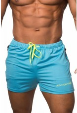 JED NORTH JED NORTH AGILE SHORTS, AQUA BLUE