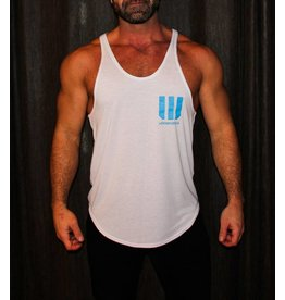 WODSPORTS WOD SPORTS STRINGER TANK, WHITE/BLUE