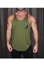 WODSPORTS WOD SPORTS STRINGER, ARMY/BLACK