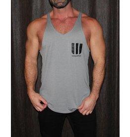 WODSPORTS WOD SPORTS STRINGER, GREY/BLACK