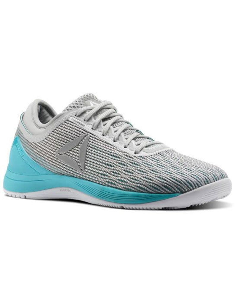 REEBOK REEBOK WOMEN'S CROSSFIT NANO 8 FLEXWEAVE, WHITE/GREY/TEAL