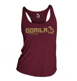 GORILA FITNESS GORILA ORGINAL TANK TOP, BURGUNDY AND GOLD