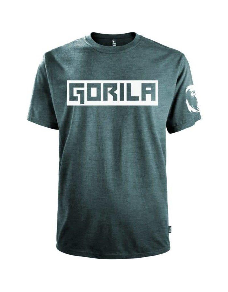 GORILA FITNESS GORILA BOX SHIRT, NAVY HEATHER