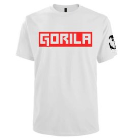 GORILA BOX SHIRT WHITE AND RED