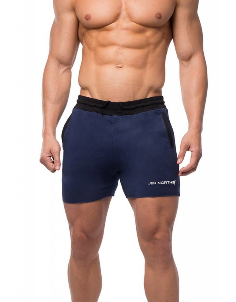 JED NORTH JED NORTH TITAN SWEAT SHORTS, BLUE