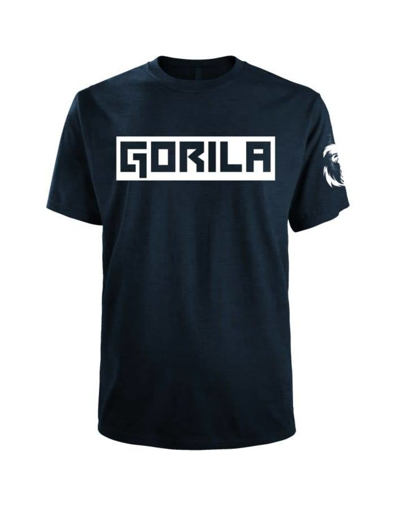 GORILA FITNESS GORILA BOX SHIRT NAVY AND WHITE