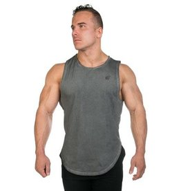 JED NORTH JED NORTH LUXE FLEX MUSCLE TEE VINTAGE, GRAY