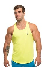 JJ MALIBU JJ MALIBU DRI-FIT T-BACK TANK TOP, YELLOW