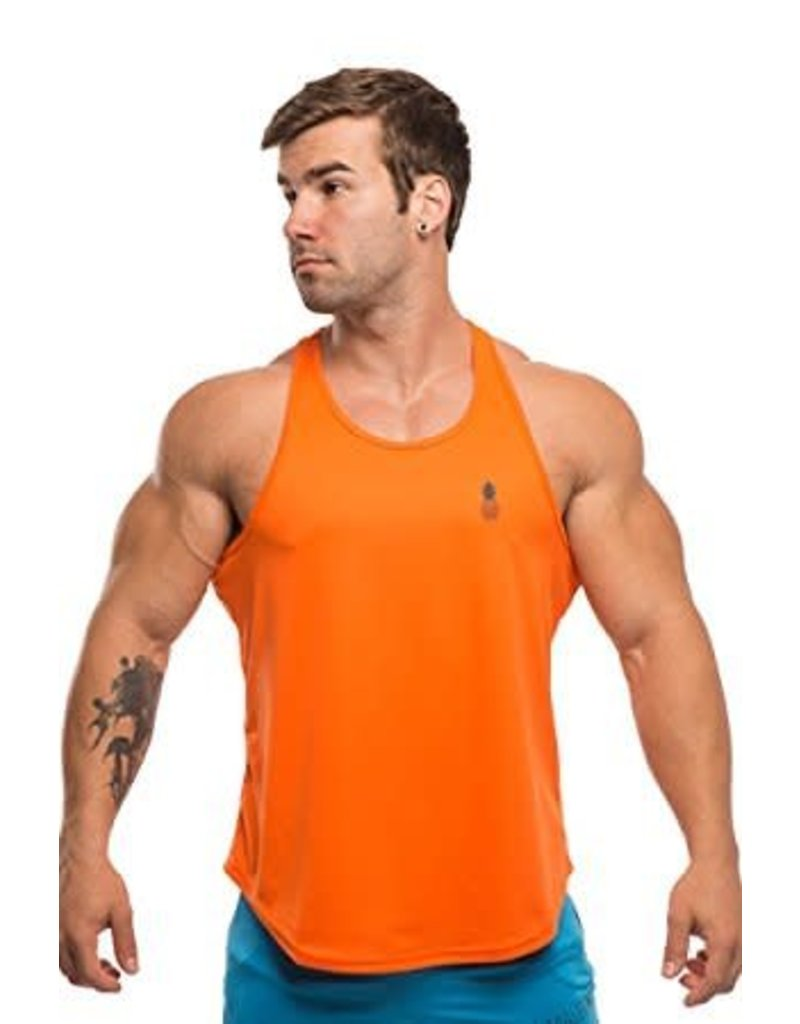 JJ MALIBU JJ MALIBU DRI-FIT T-BACK TANK TOP, ORANGE