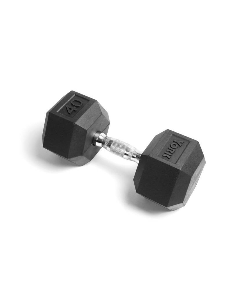 TONIC PERFORMANCE HEX RUBBER DUMBELLS 40LBS (UNIT)