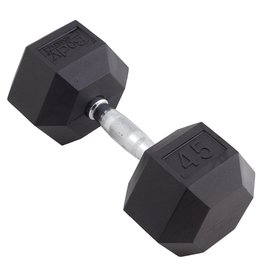 TONIC PERFORMANCE HEX RUBBER DUMBELLS 45LBS (UNIT)