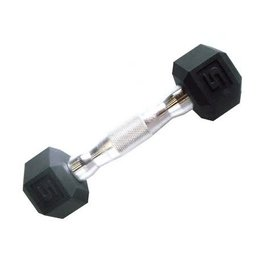 TONIC PERFORMANCE HEX RUBBER DUMBELLS 5LBS (UNITÉ)