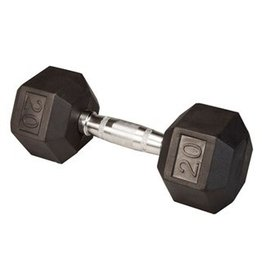 TONIC PERFORMANCE HEX RUBBER DUMBELLS 20LBS (UNITÉ)