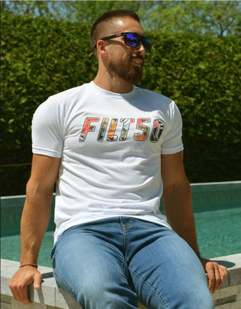 Filthy 50 FILTH50 MEN FLOWER BASIC TEE