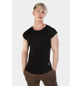 JED NORTH JED NORTH EVOLVE CAPPED SLEEVE TEE BLACK