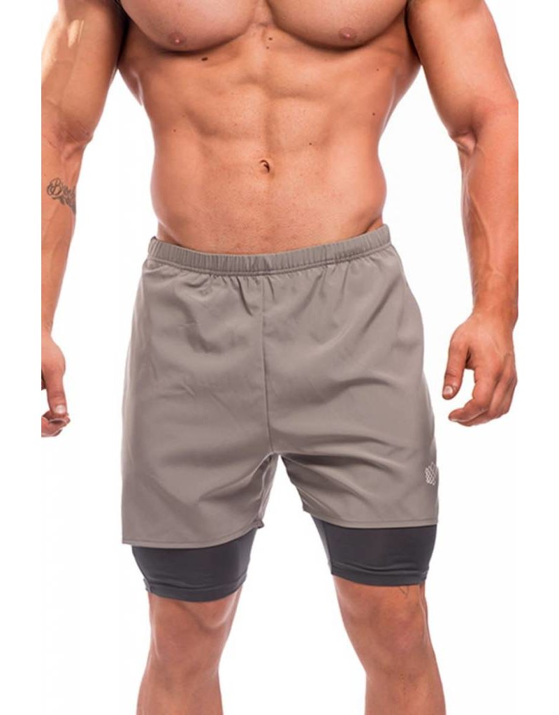 JED NORTH JED NORTH DEXTER FLOW PERFORMANCE SHORTS GRAY