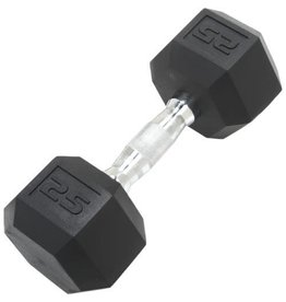 TONIC PERFORMANCE HEX RUBBER DUMBELLS 25LBS (UNITÉ)