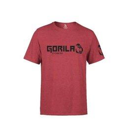GORILA FITNESS GORILA FITNESS ORIGINAL T-SHIRT MEN, BURGUNDY