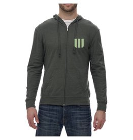 WOD SPORT WOD HOODIE BEACH EQUIPPED TO PERFORM - GREEN
