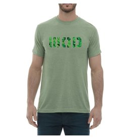 WOD SPORT WOD TEE - HEATHER GREEN/LEAVES PRINT