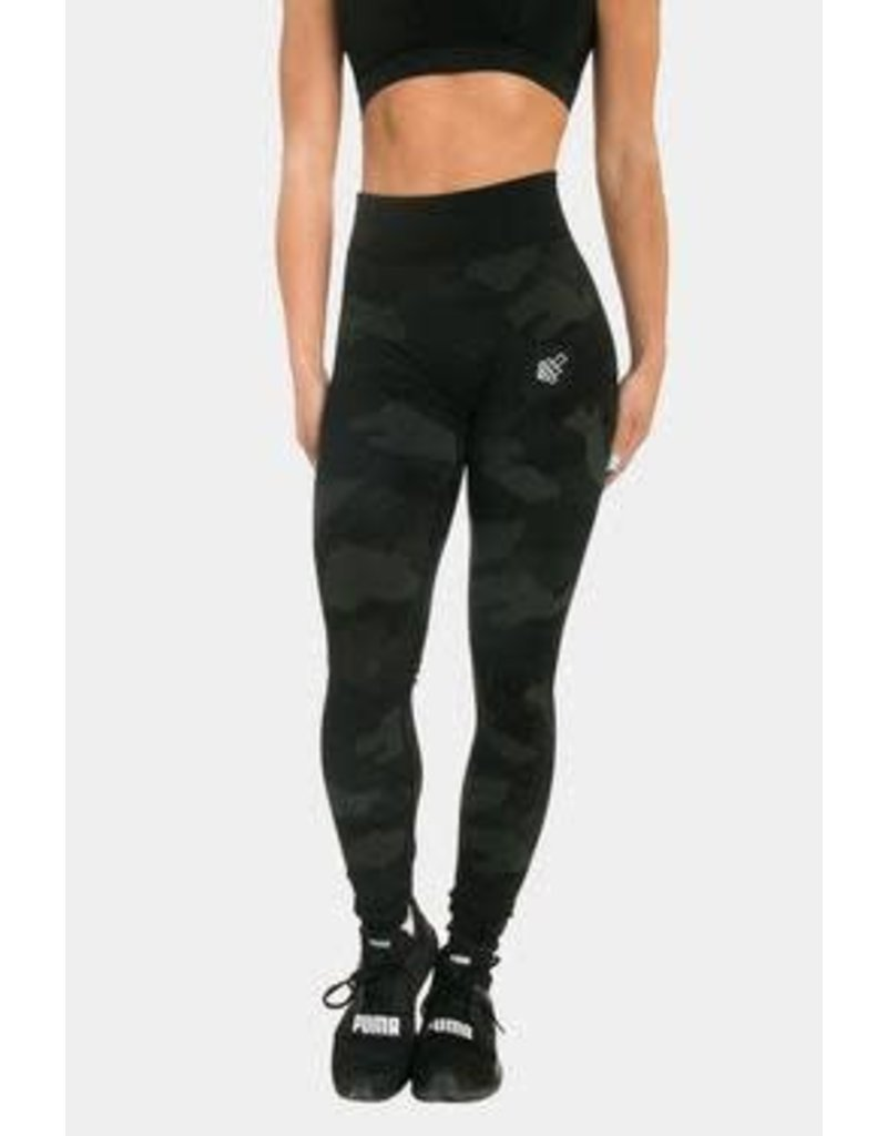 JED NORTH FLORA SEAMLESS LEGGINGS, BLACK